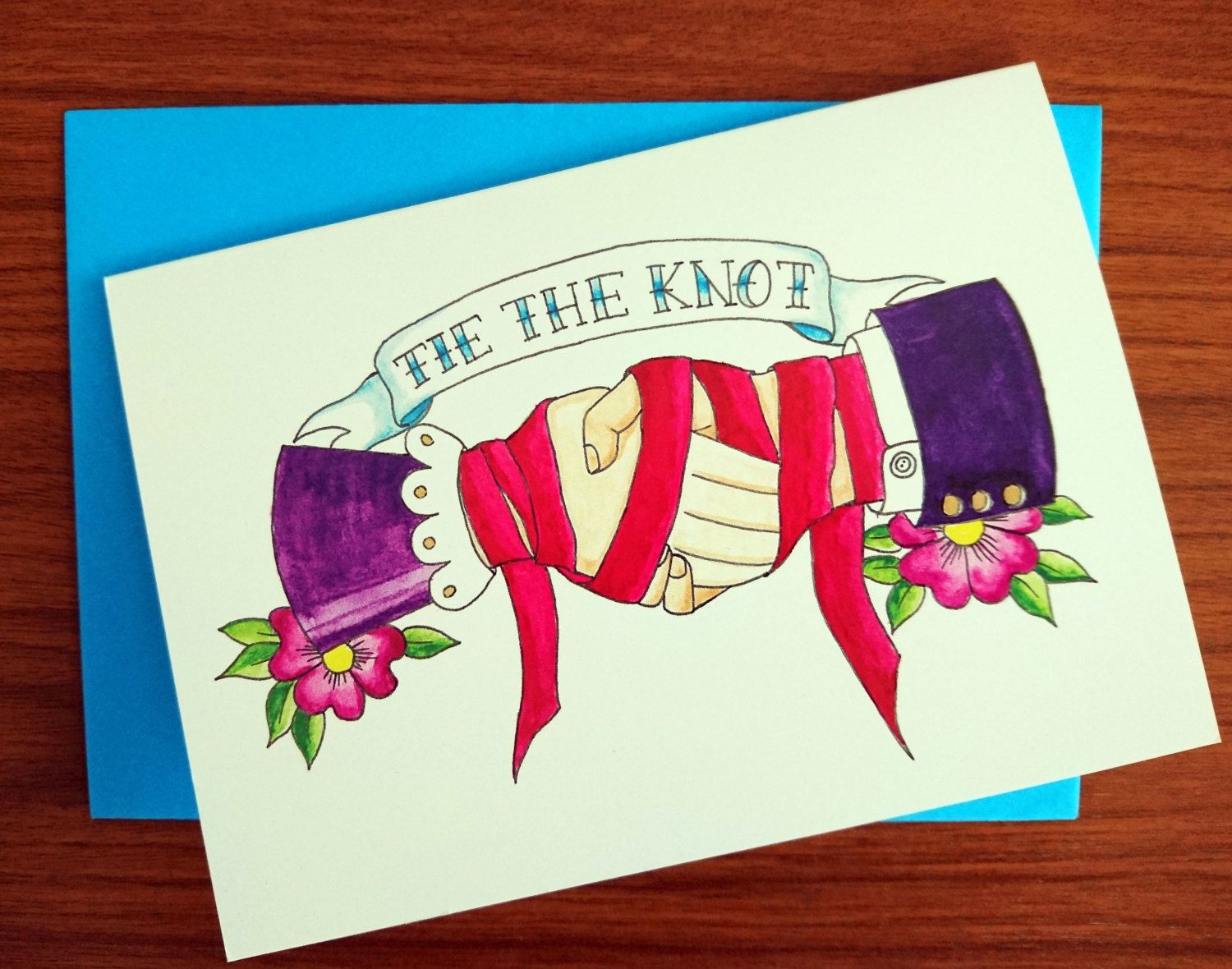 Tie the Knot. Celebrate their vows with this card, showing