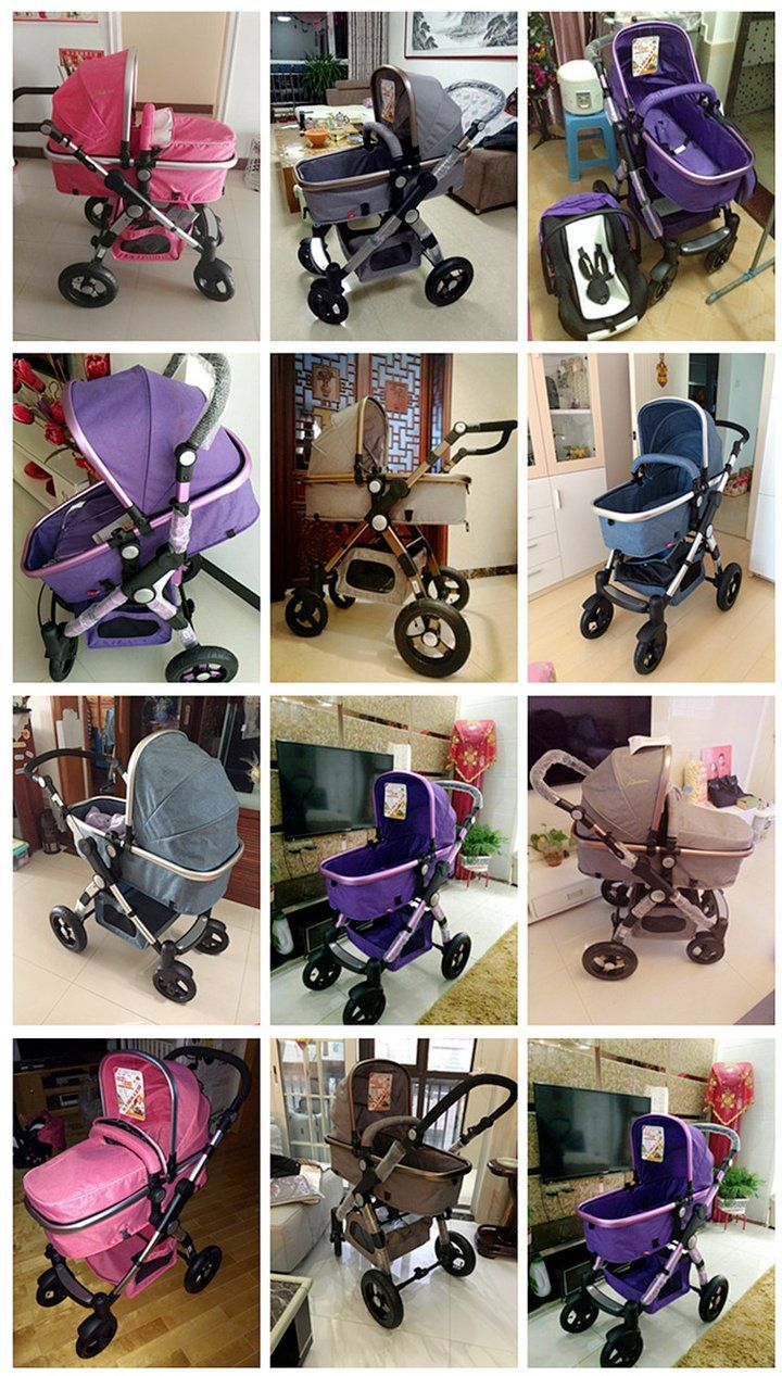 Gold Baby Brand Baby Stroller 3 In 1 With Car Safety Seat