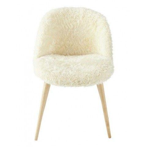 mauricette chaise vintage fausse fourrure maison du monde. Black Bedroom Furniture Sets. Home Design Ideas