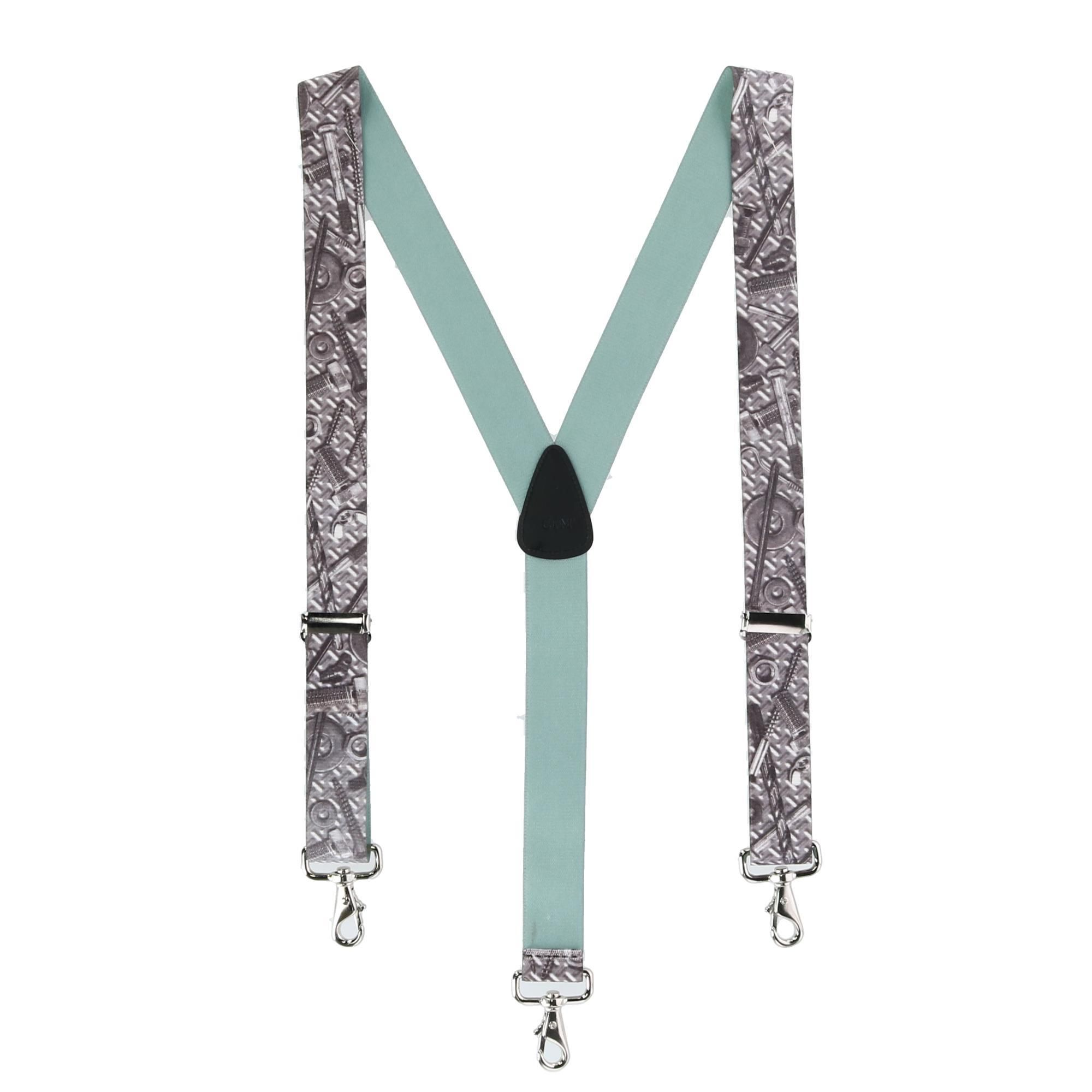 CTM Mens Elastic Craftsman Novelty Suspenders with Swivel Hook Clips