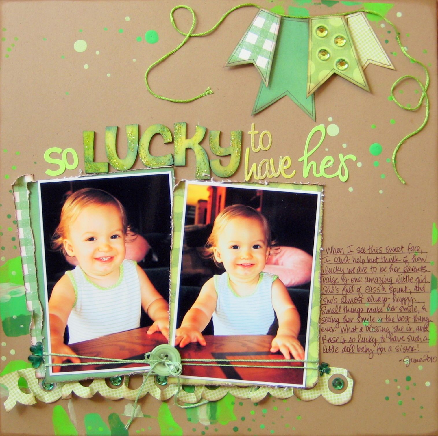 So lucky to have her scrapbook scrapbook layout pinterest