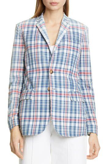 New Polo Ralph Lauren Madras Plaid Blazer online #ralphlaurenwomensclothing