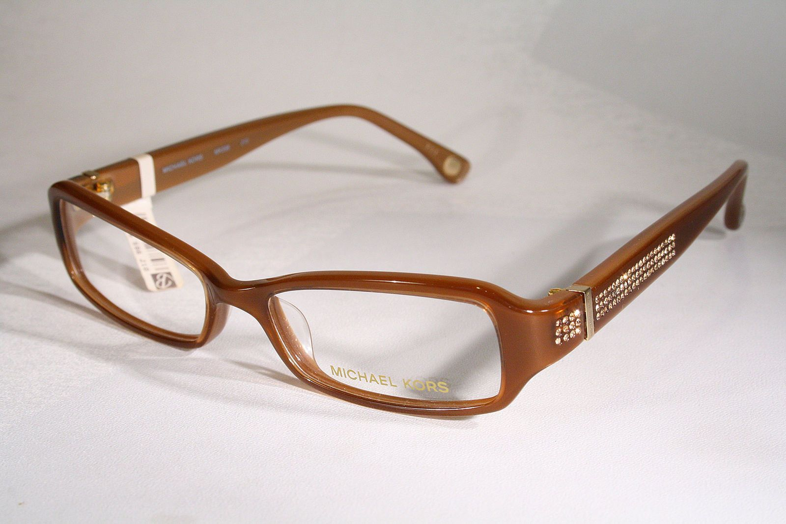 f6f564861466 New MICHAEL KORS 598 Women s Taffy Brown w  Rhinestones Eyeglasses Frames  Small