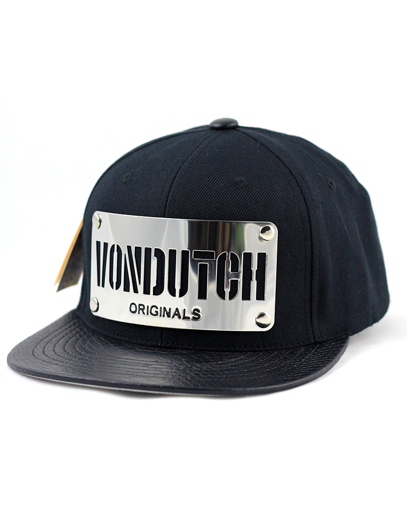 ecc406ae5a8 Von Dutch Metal Plate Snapback Hat (Silver)    Premium K-Pop Cap Store     K-Pop Hat    Korean Fashion    Metal Plate Cap