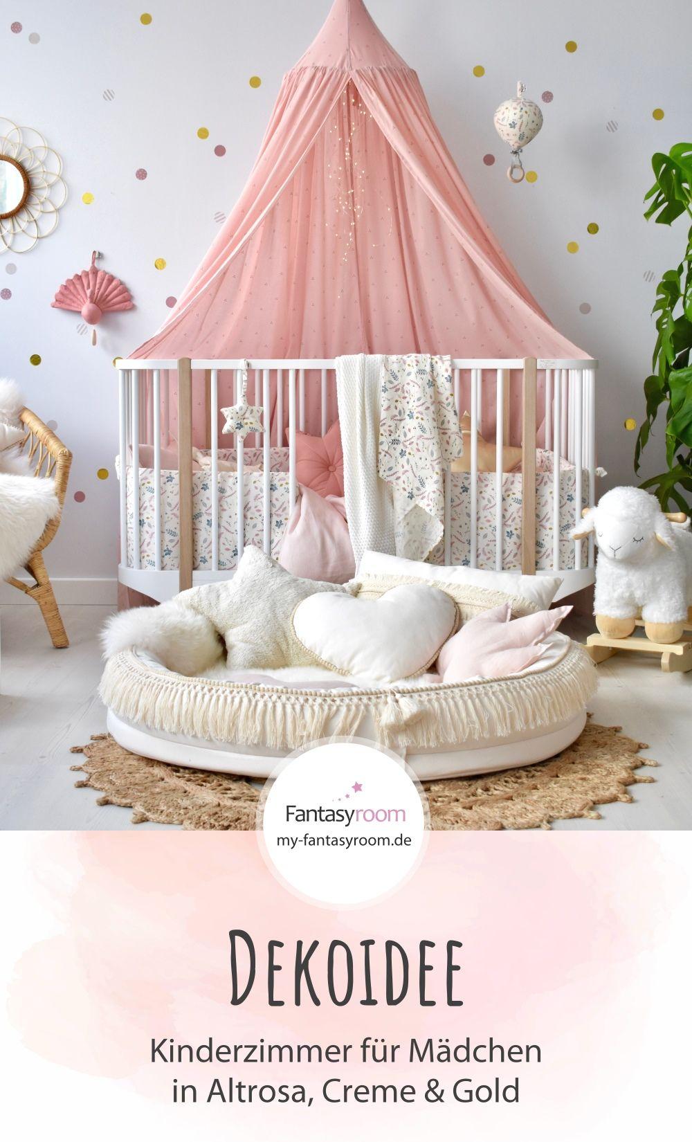 Babyzimmer In Altrosa Creme Bei Fantasyroom Online Kaufen Wandfarbe Kinderzimmer Zimmer Madchenzimmer