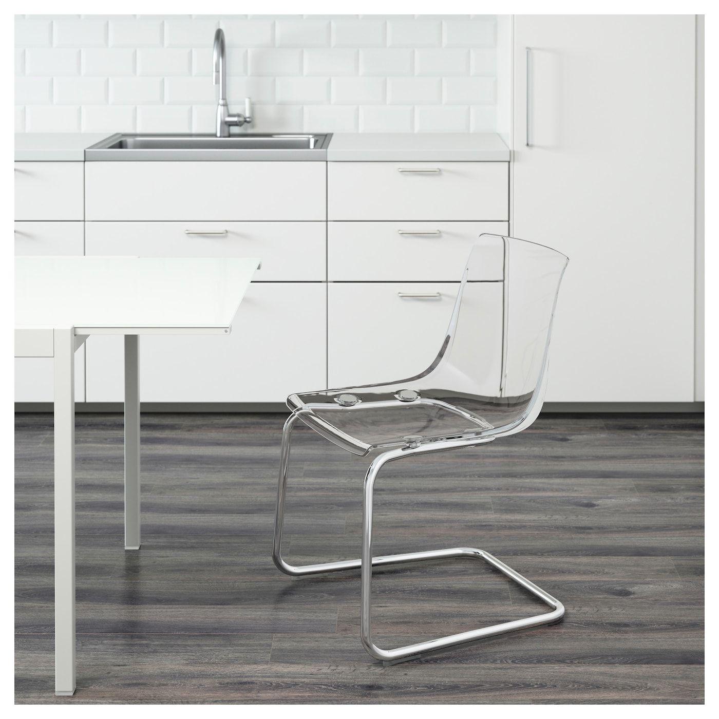 tobias stuhl, transparent, verchromt | einliegerwohnung renovieren