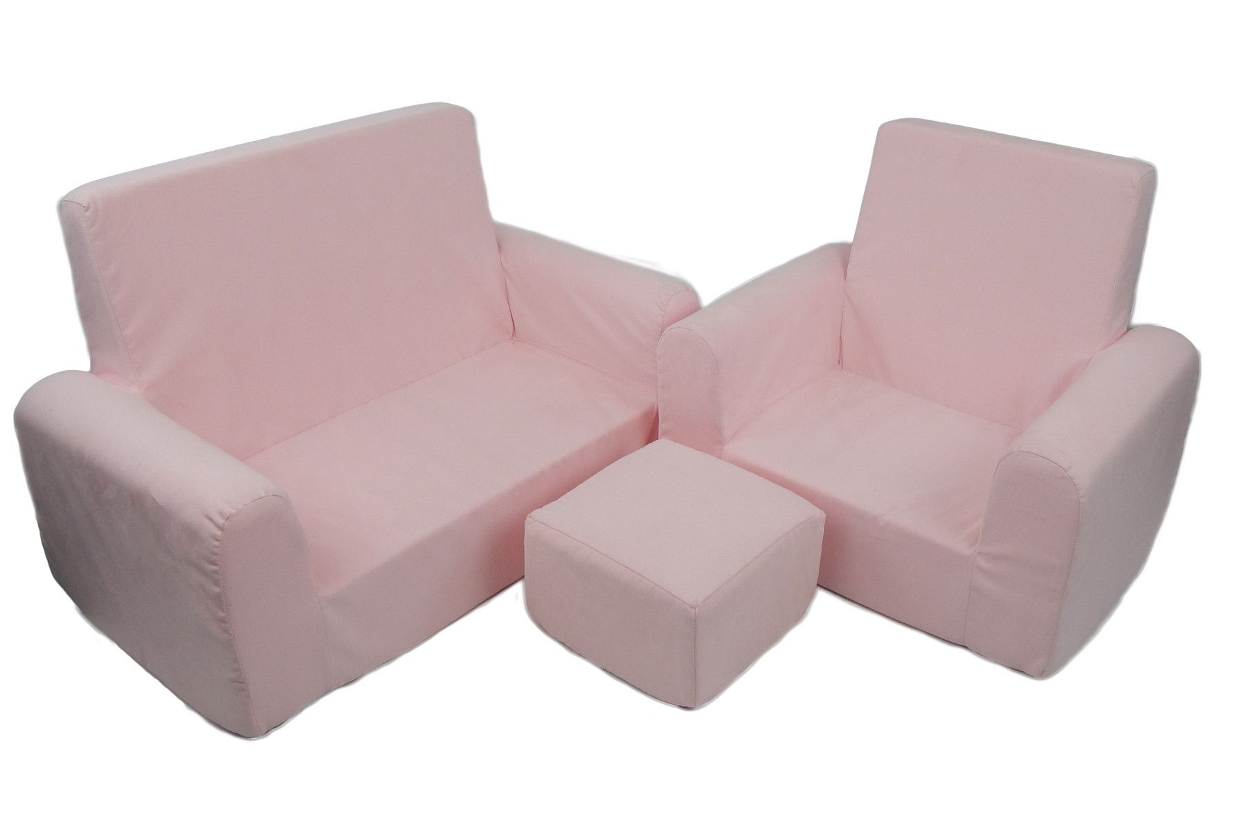 3 Piece Kids Sofa Chair And Ottoman Set Products Chair Ottoman
