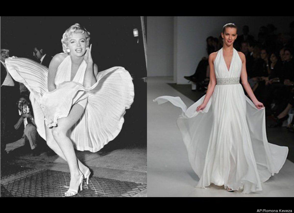 6d9da41f51 Marilyn Monroe Dresses  5 Blond Bombshell-Inspired Wedding Gowns ...
