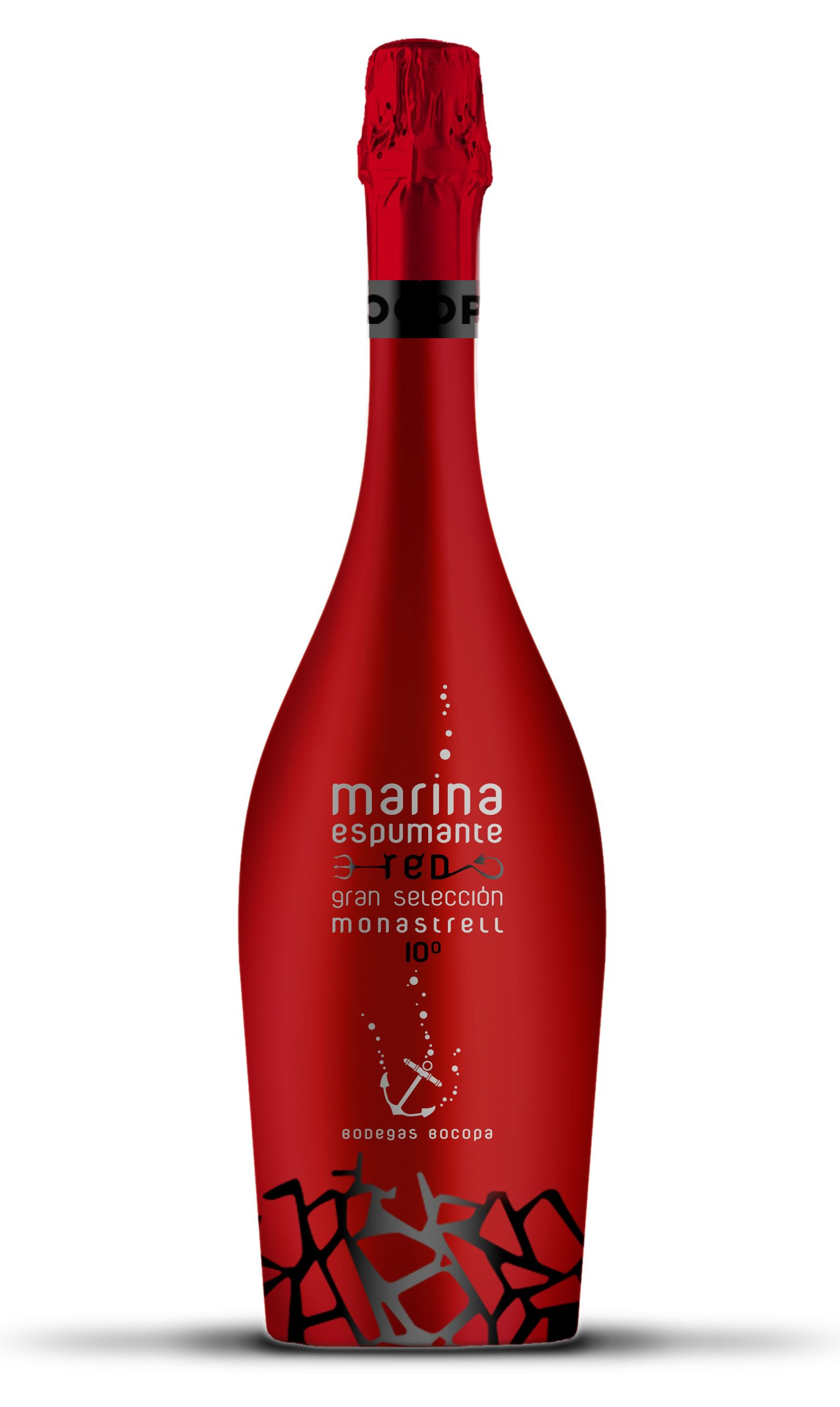 Marina Espumante Red Tinto Espumoso 100 Monastrell Nuevo Producto Bocopa Bottle Design Packaging Wine Design Red Champagne