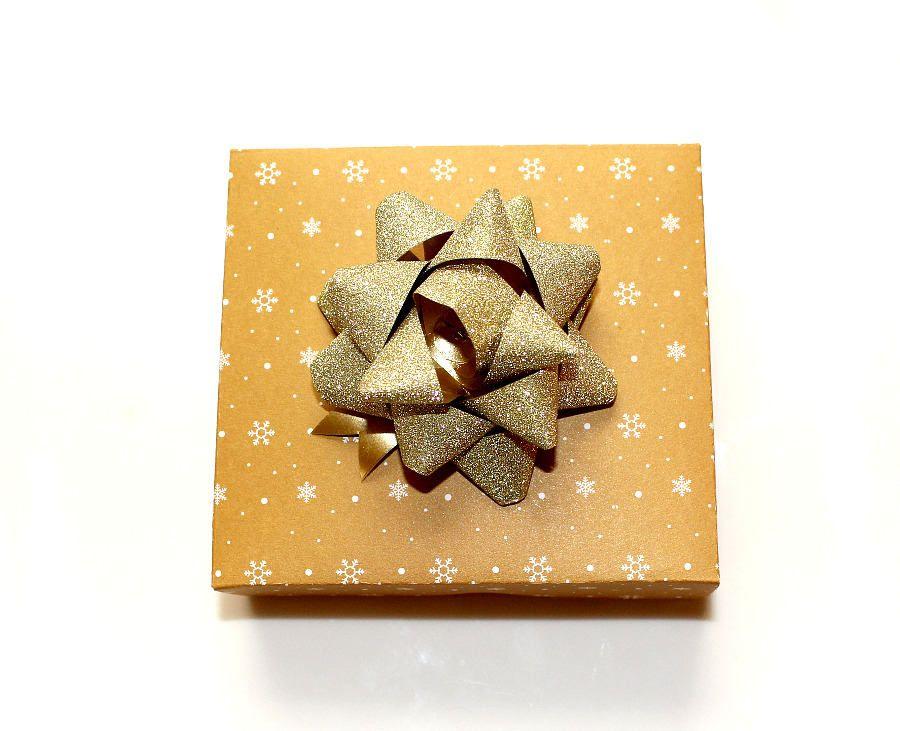 Geschenkkarton Weihnachten.Weihnachten Geschenkschachtel Mit Deckel Gold Sterne Handgefertigt