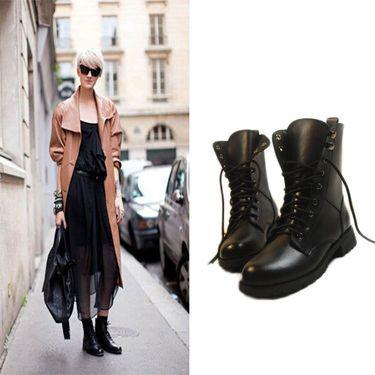 Boots Plates pour Femme Couleur Noir DSH-341618 - TinyDeal
