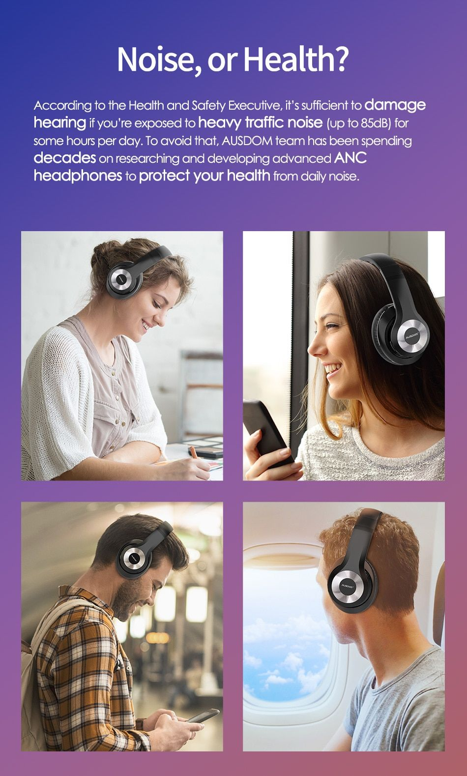 Foldable Active Noise Cancelling Bluetooth Wireless Headphones 30h Play Time Active Noise Cancellation Noise Cancelling Bluetooth Headphones Wireless