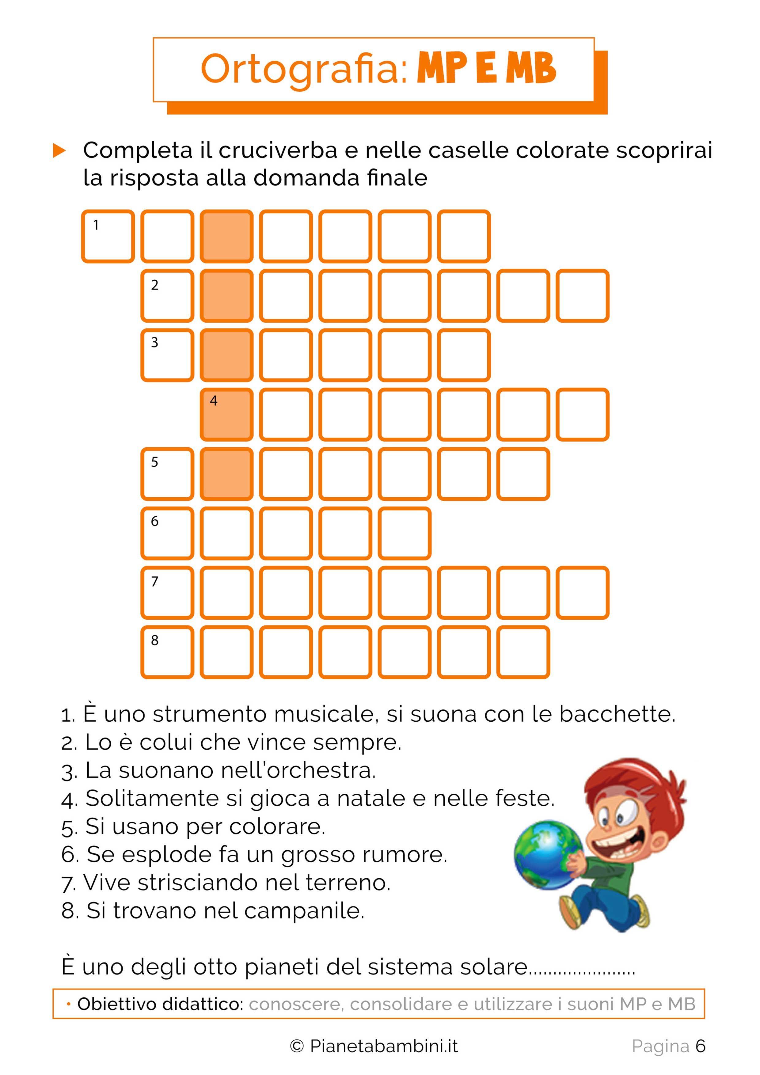 Schede didattiche su mp e mb da stampare mamy scuola - Numero di fogli di lavoro per bambini ...