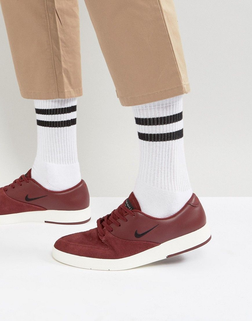 fff54a83725460 Get this Nike Sb s sneakers now! Click for more details. Worldwide  shipping. Nike SB Zoom P-Rod X Trainers In Burgundy 918304-601 - Red   Trainers by Nike ...