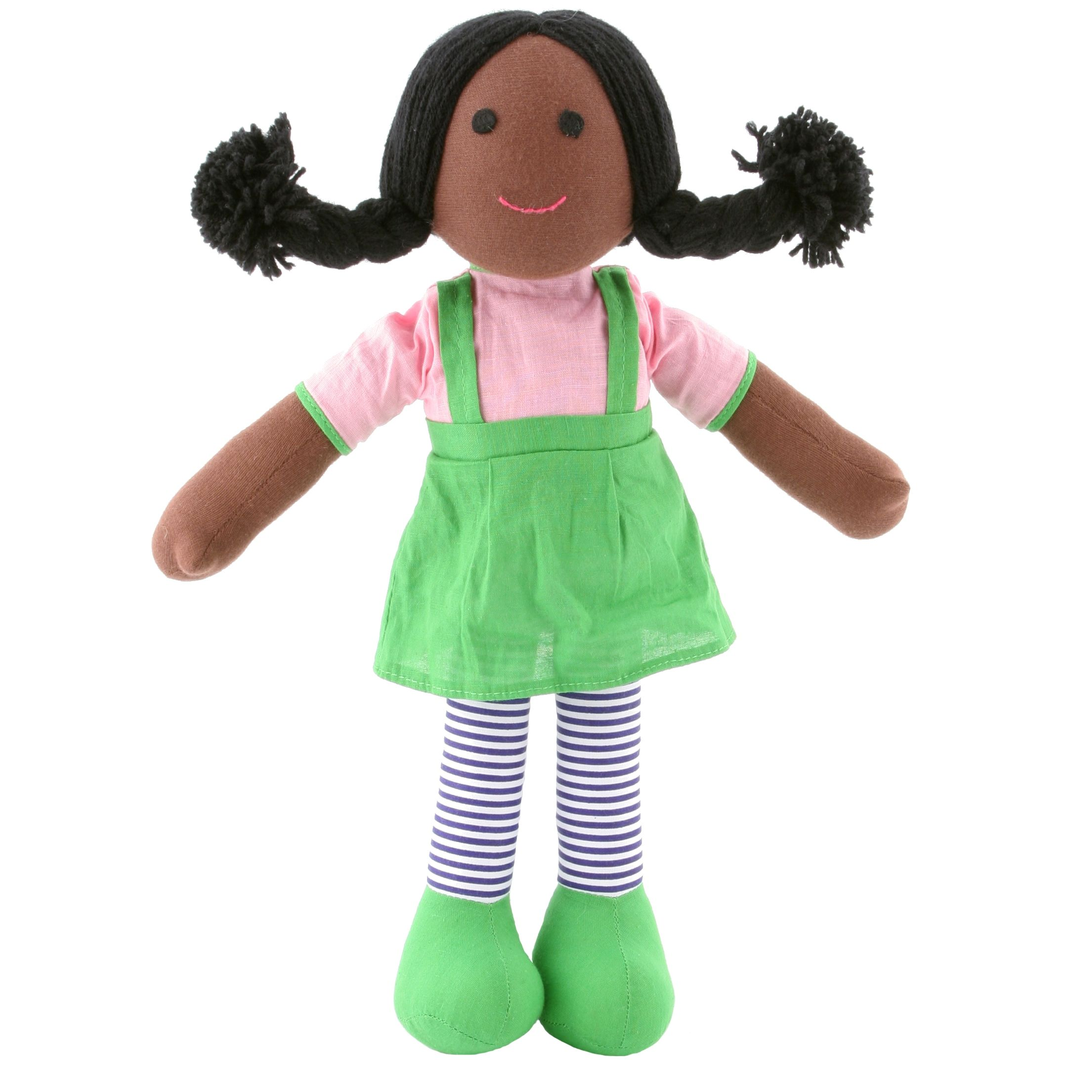 """rag dolls first to review """"Tilly Black Rag Doll"""