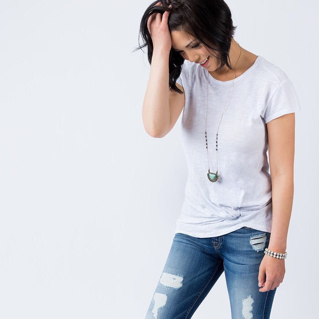 We know we canut believe it either our slub tuck tee gives us that