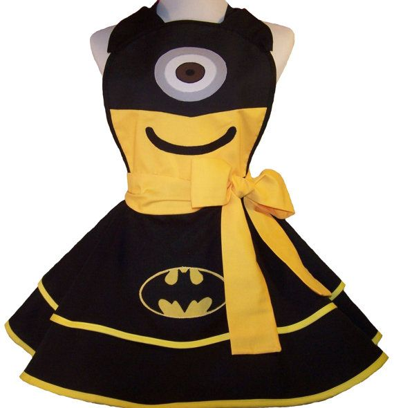 Sexy BatManion  Fun Minion Apron  Pin Up Style by WellLaDiDa, $55.00