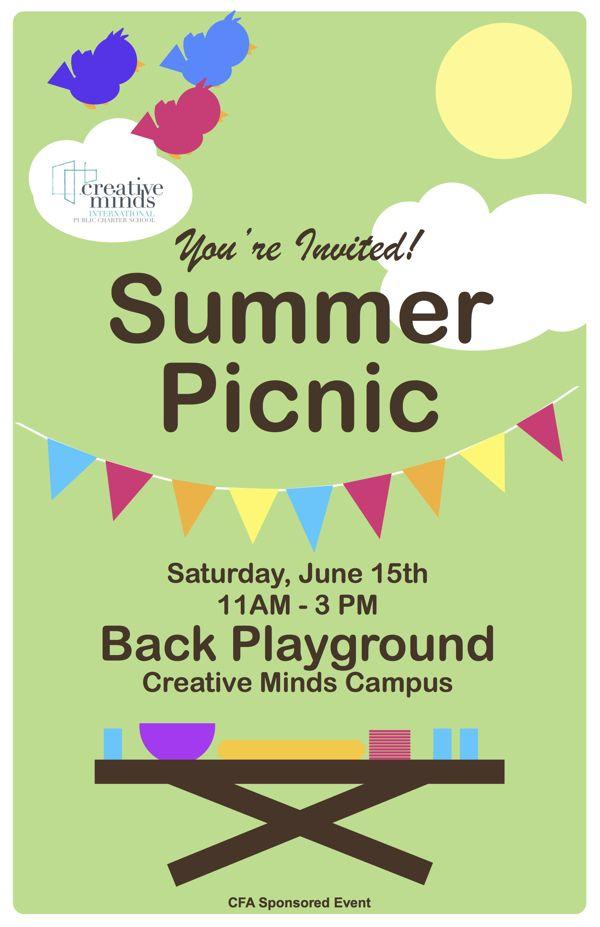 2013 cmi pcs summer picnic poster