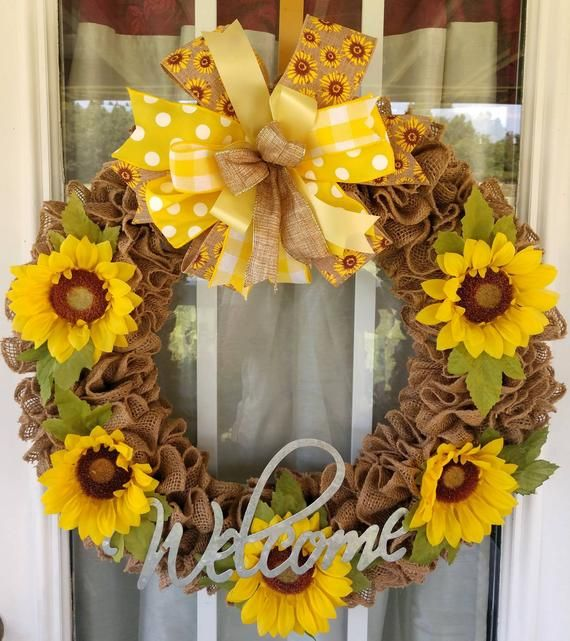 Primitive Fall Wreath for Front Door, Summer Rusti