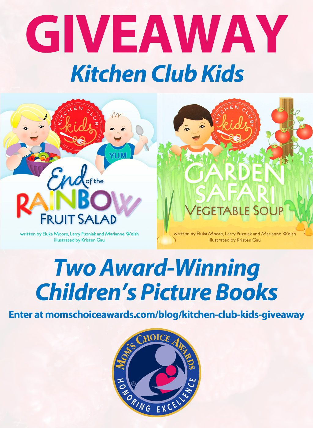 I just entered to win this award-winning book series from @kitchenclubkids! You can enter on the @MomsChoiceAward blog!