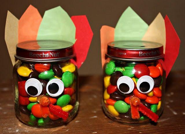 Baby Food Jar Candy Turkey Craft Kids Can Help