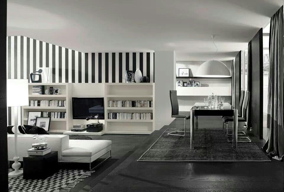 Pareti A Strisce Bianco E Nero : Scultura b w homage to o design case e librerie