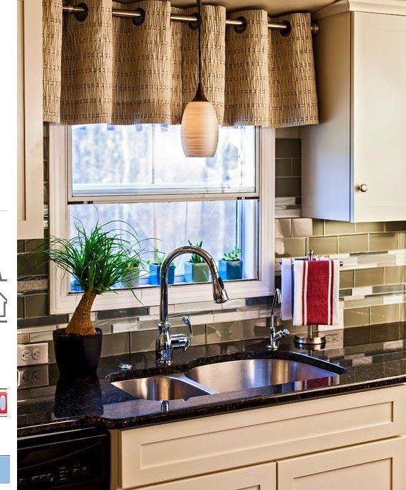 Cortinas cocina ventanas peque as cortinas cocina for Ideas decorativas para cocinas pequenas
