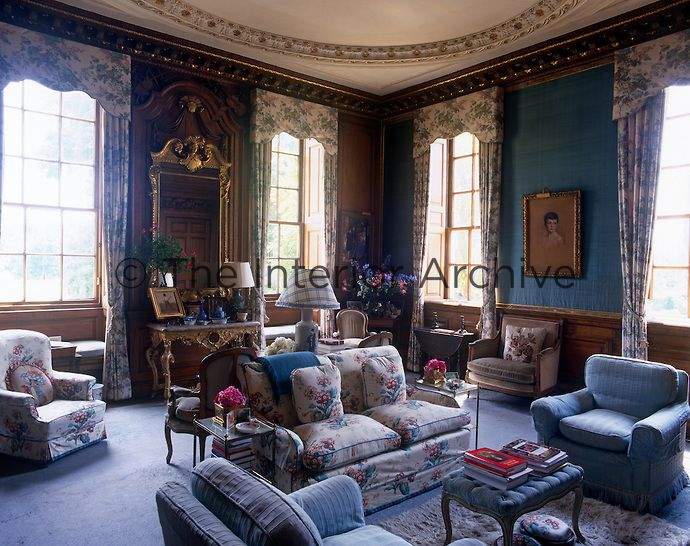 this elegant wood panelled drawing room is furnished in a rh pinterest com