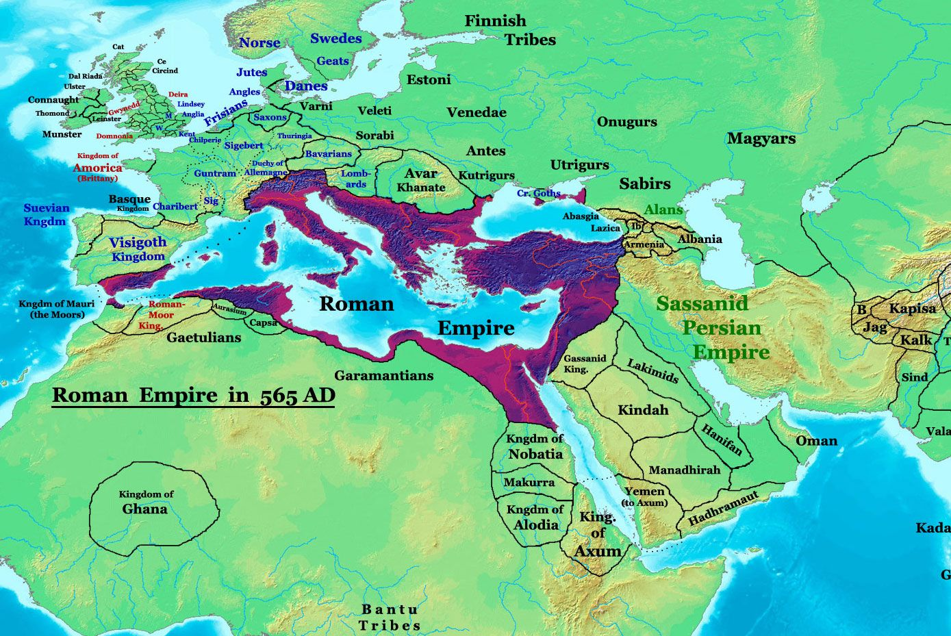 map of belisarius byzantine empire at