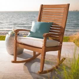 Hanging Chair Home Goods Back Support Office Cushion Teak Nantucket Rocking Outdoorgliderchair Chairs