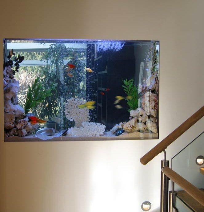 contoh desain aquarium dinding gambar 6 home design ideas rh pinterest com