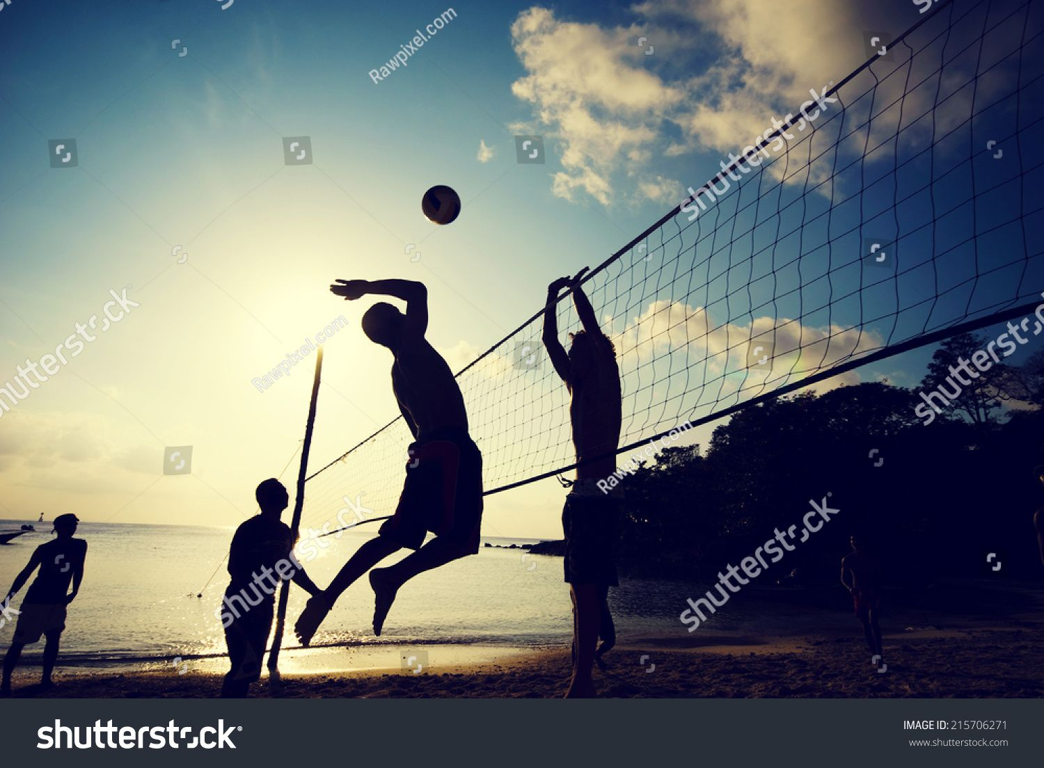 Beach Volleyball At Sunset Ad Affiliate Beach Volleyball Sunset Beach Volleyball Volleyball Photo