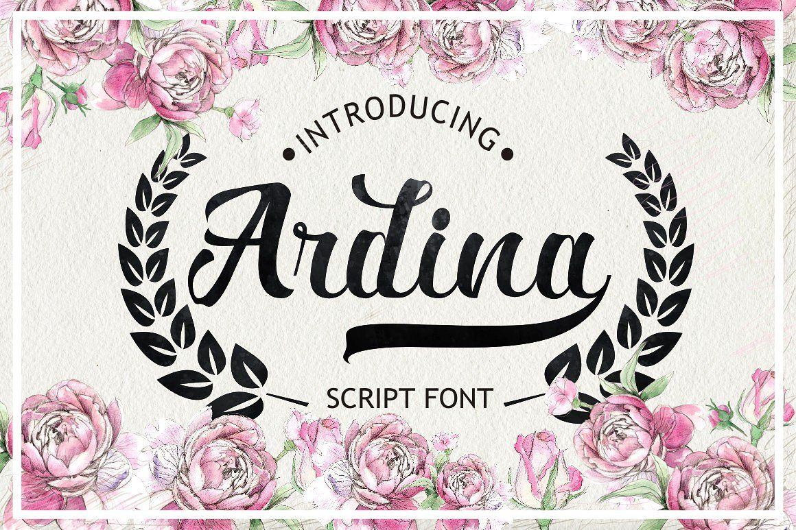 cursive fonts for wedding cards%0A  Free  Download  Ardina Script  An attractive font styles inspired by the  modern