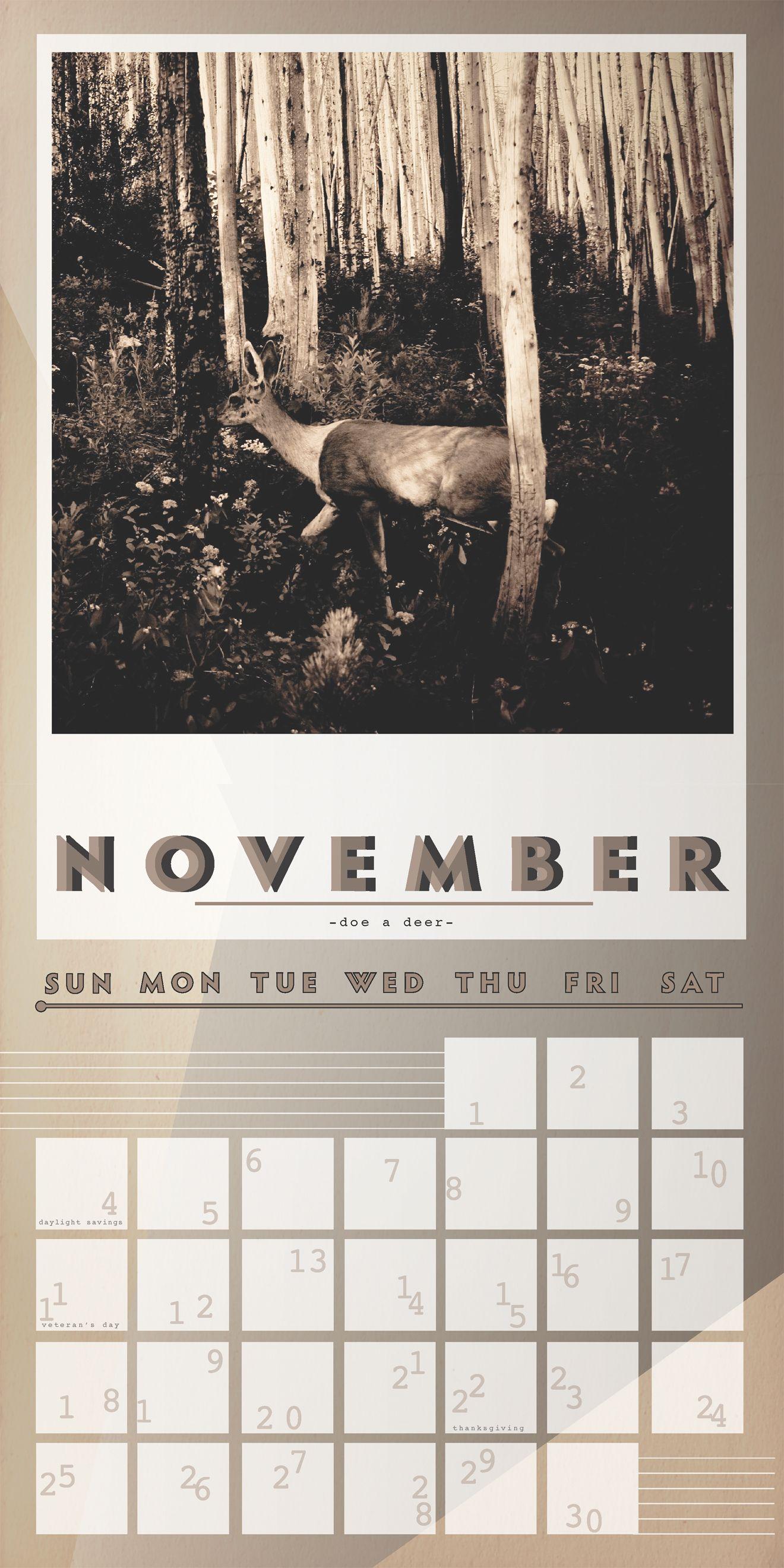 November - Doe a deer.