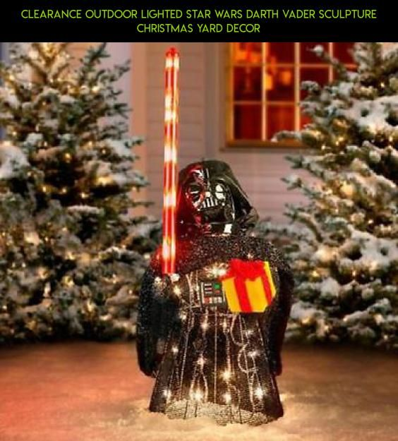 clearance outdoor lighted star wars darth vader sculpture christmas yard decor clearance fpv
