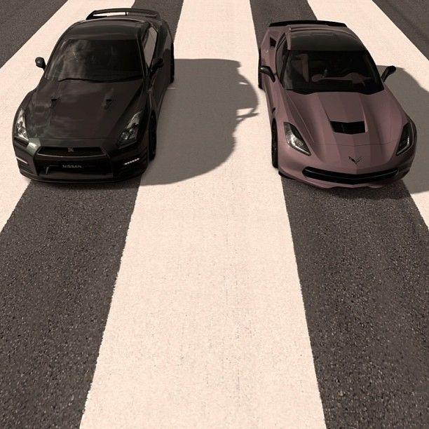 Black Nissan Gtr Vs Brown Corvette C7 Heute Kannst Sie Beide Haben Willkommen In Der Welt Von Der Du Bisher Immer Sports Cars Luxury Nissan Gtr Sport Cars