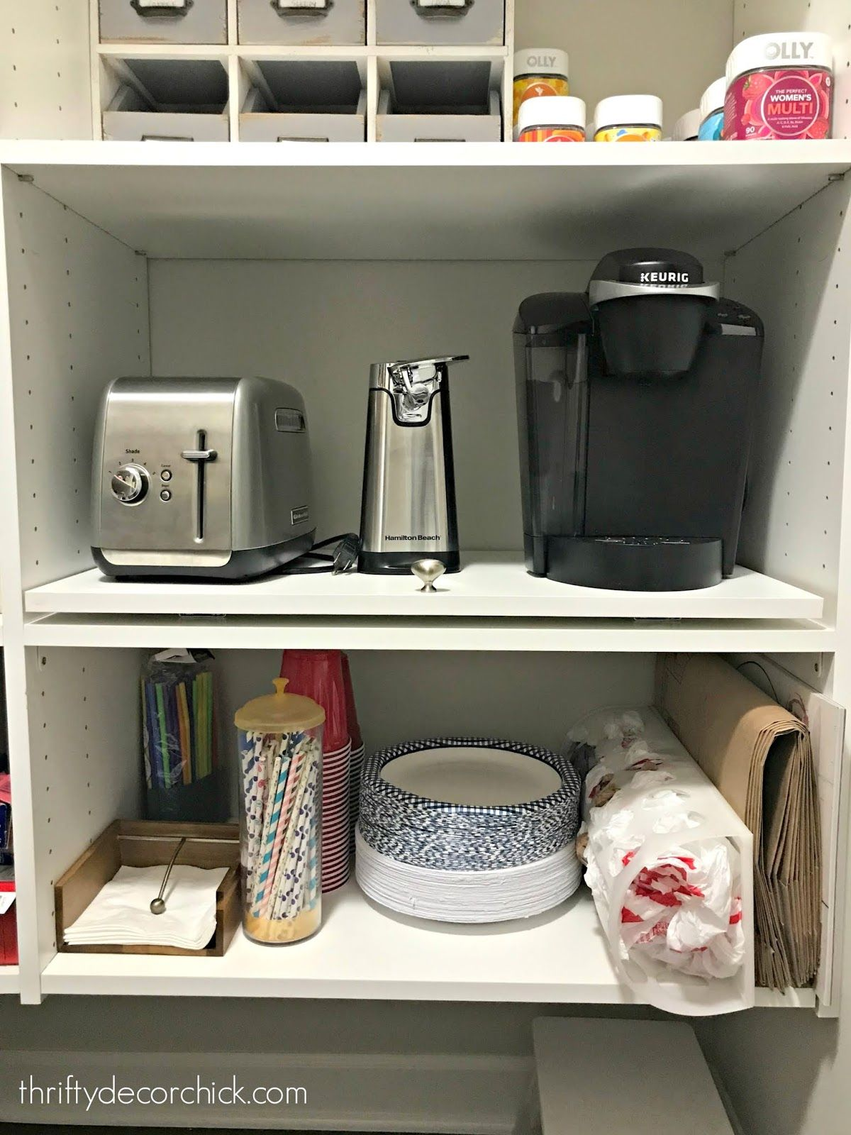 Do It Yourself Pull Out Shelf For Appliances In Pantry