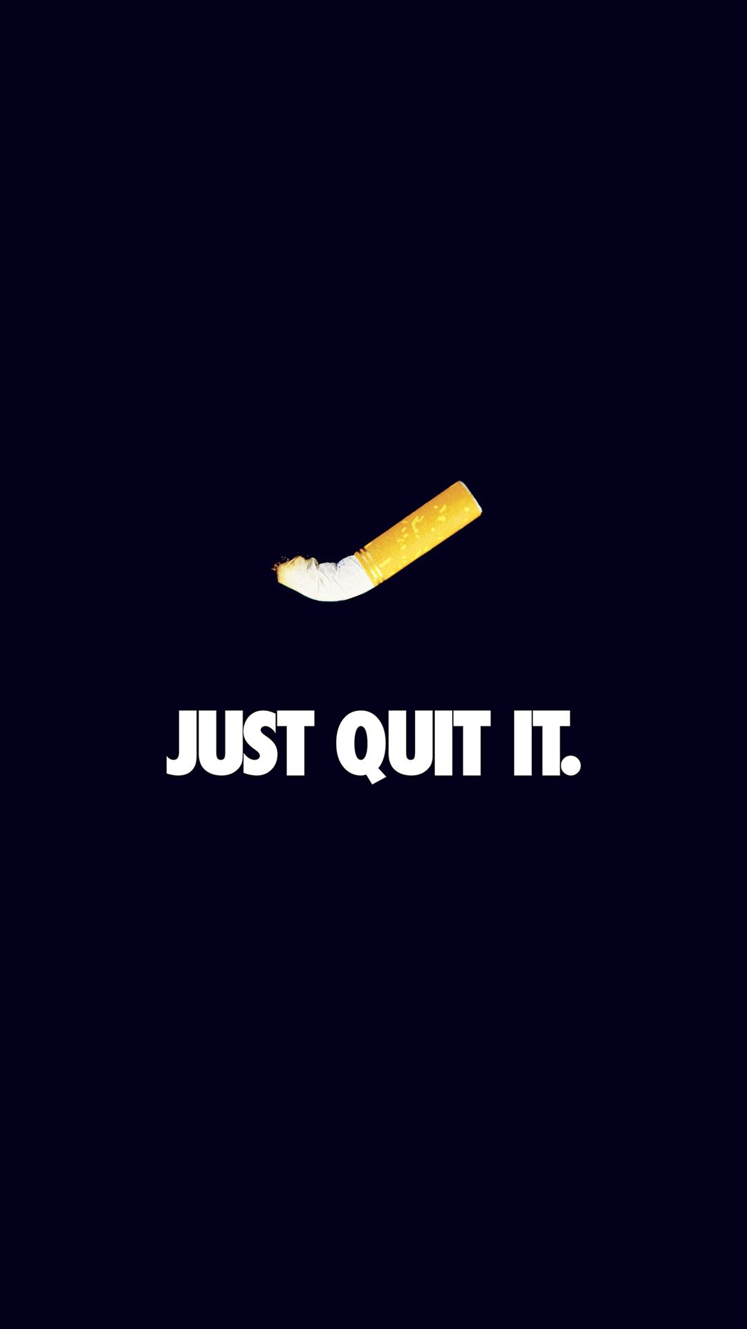 Just Quit It Nike Smoking Art Minimal Dark Blue #iPhone #6 #wallpaper