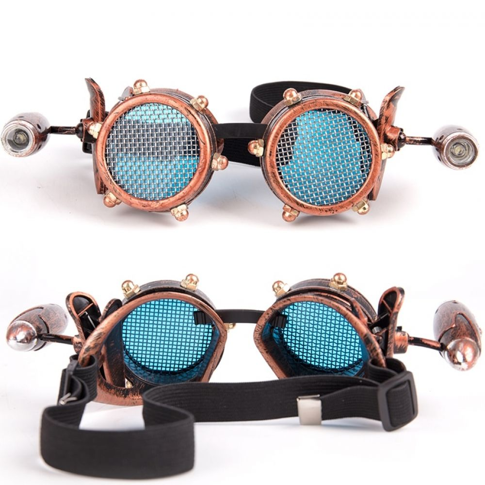 Unisex Steampunk Goggles With Small Lamp 2 Colors ...