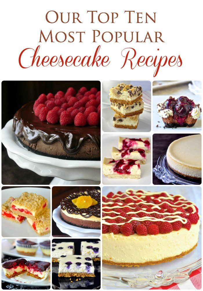 From decadent cheesecake bars to mini cheesecakes this roundup has them all plus a link to even more cheesecake recipes.