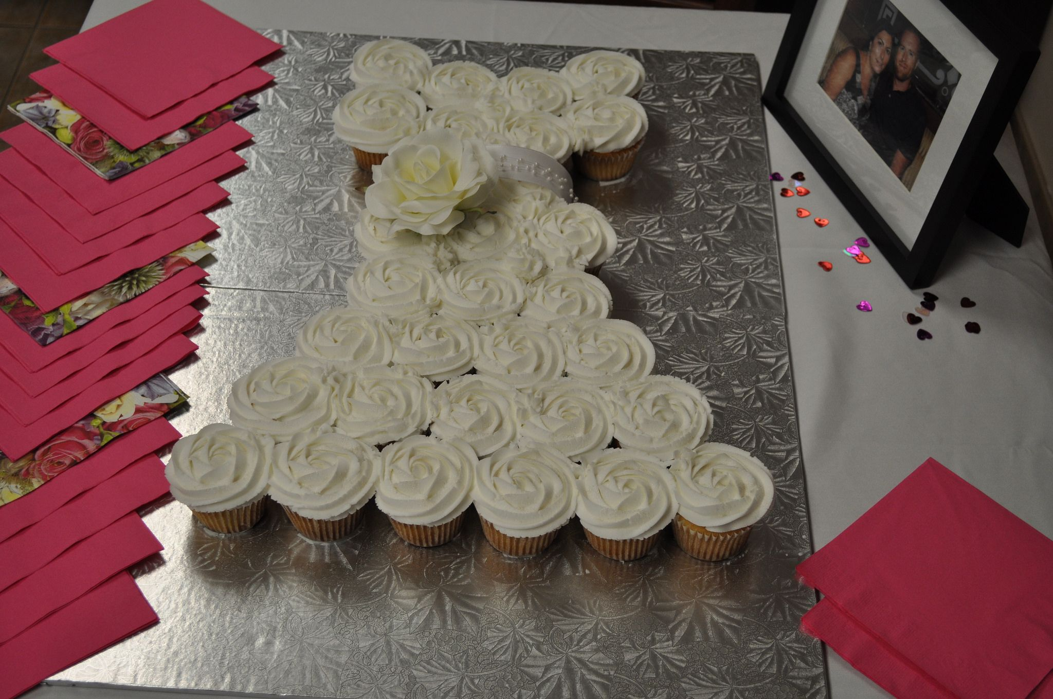 Bridal Dress Cupcakes Cake