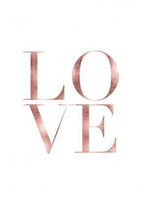 Love Rose Gold | Poster | artboxONE - #artboxONE #Gold #Love #plakat #Poster #Rose