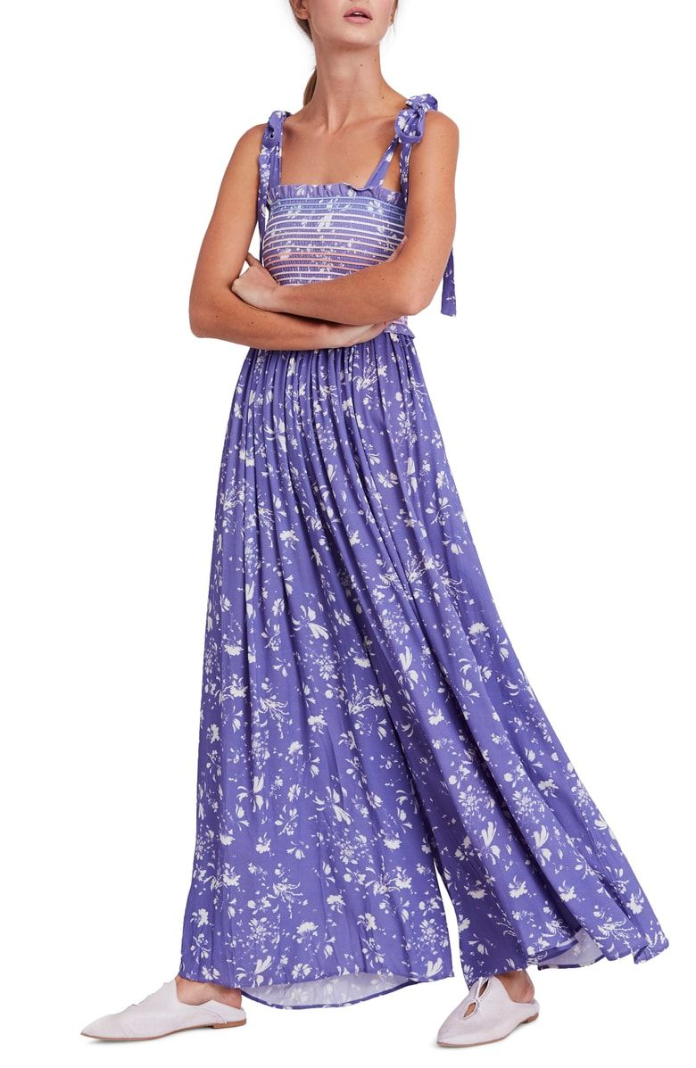 293930a25673 Free shipping and returns on Free People Color My World Floral Jumpsuit at  Nordstrom.com. The ultimate flowy pants and a tie-strap smocked bodice with  ...