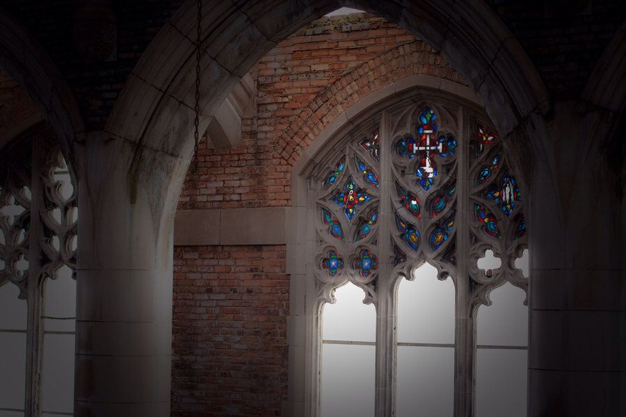 Abandoned Church Stained Glass by stewa2jm on @DeviantArt