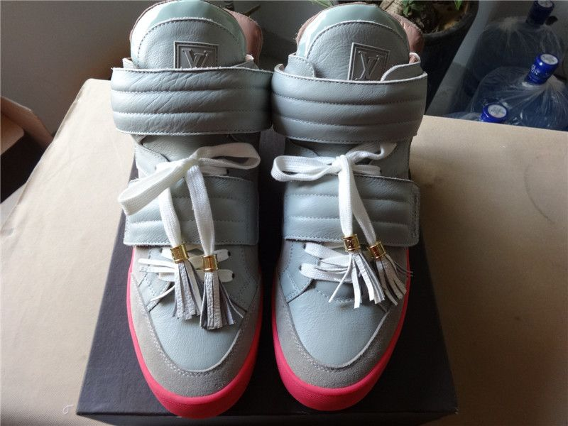 Louis Vuitton X Kanye West Jasper Size 11 For Sale 339 Contact Me Skype Zhang Amy23 Email Sneakerbook2307 Hotmail Com Fashion Shoes High Top Shoes Sneakers