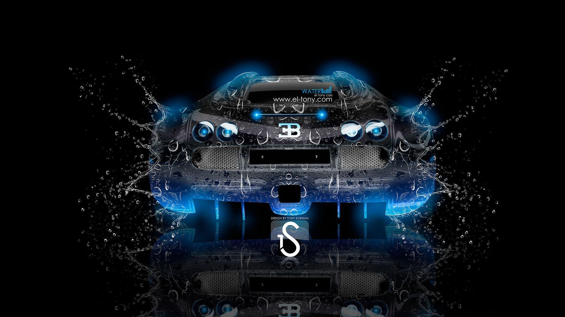 Great Bugatti Veyron Water Car 2013 Back  Blue Neon Hd Wallpapers By Tony Kokhan Www El Tony Com_