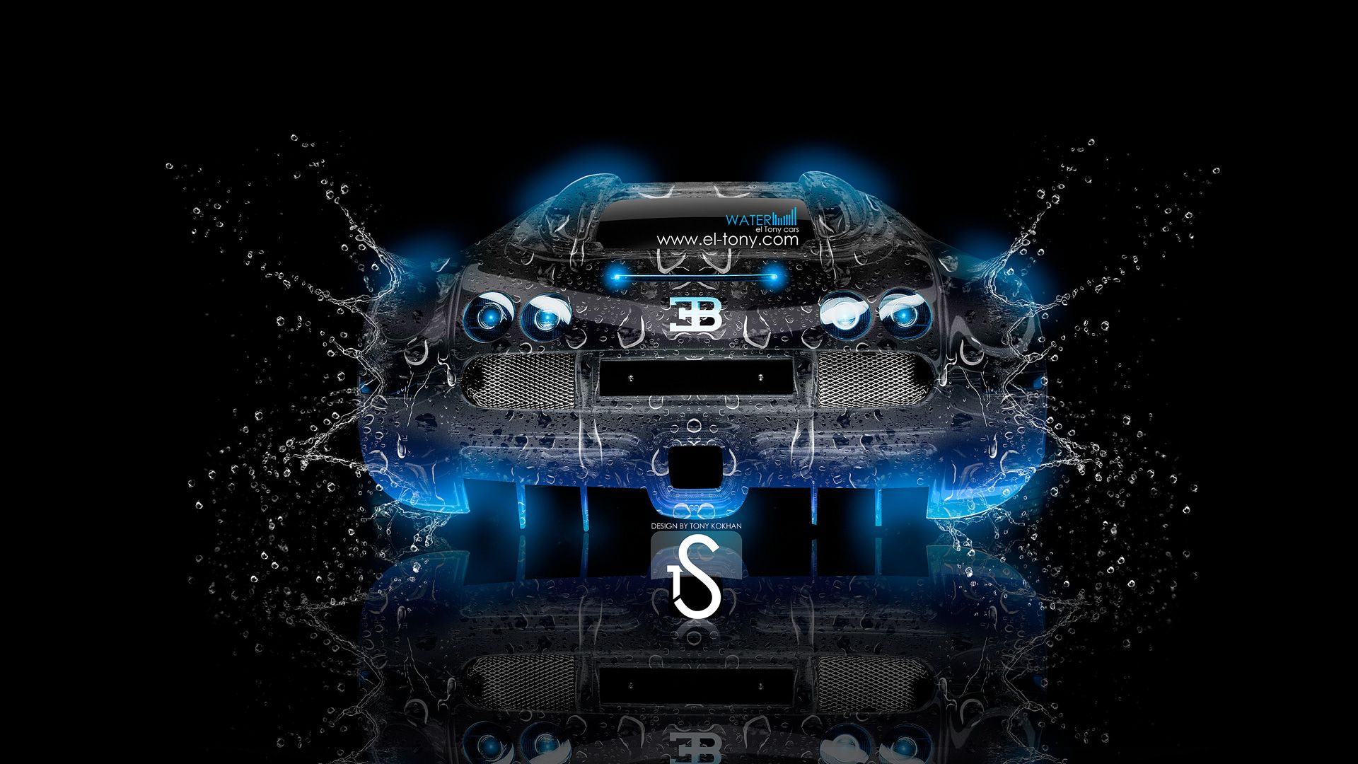 Bugatti Veyron Water Car  2013 Back Blue Neon Hd Wallpapers By Tony Kokhan Www El Tony Com_