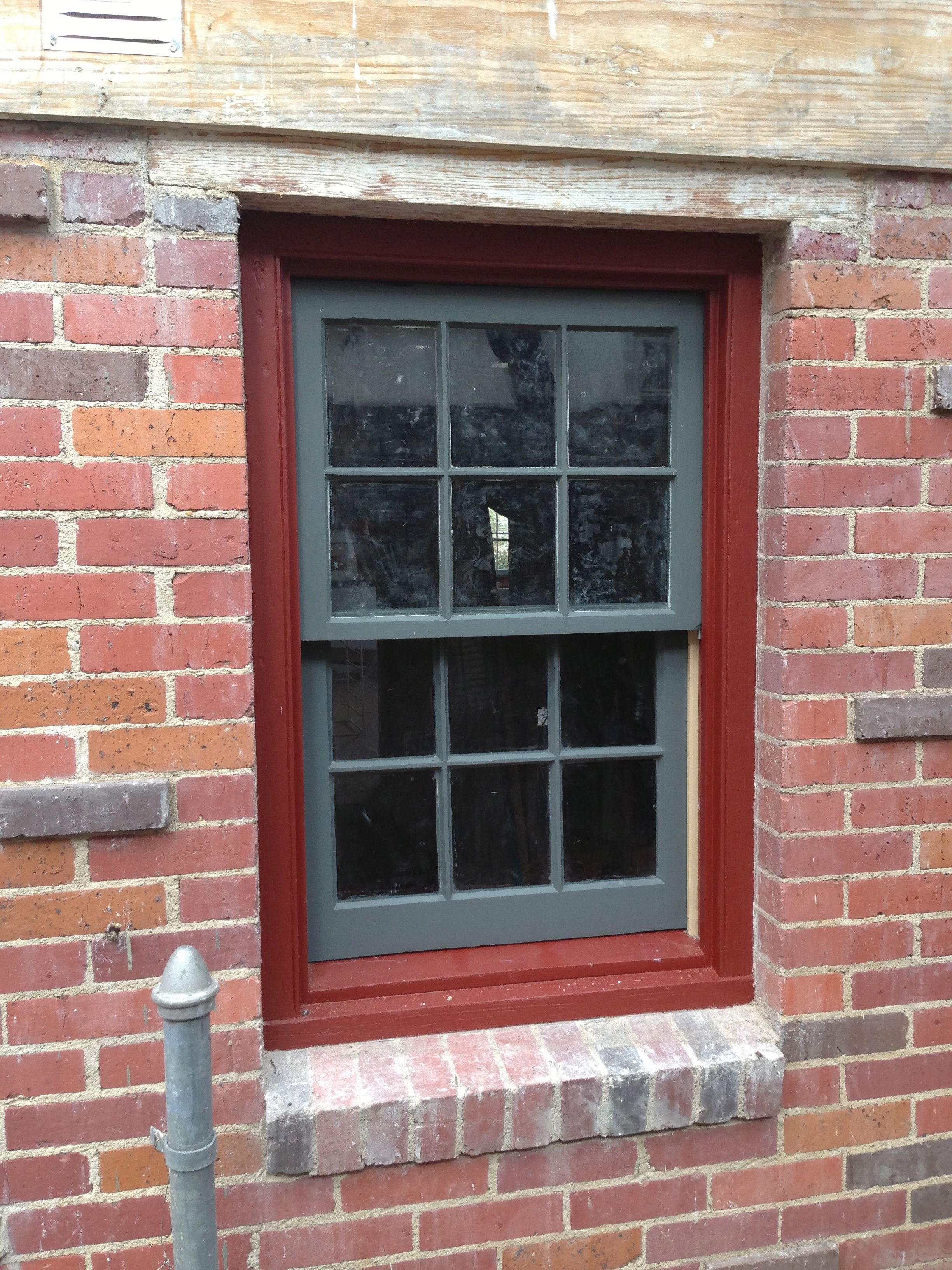 Window painted downpipe by farrow and ball exterior eggshell the reddish trim brings out the for Farrow and ball exterior paint ideas