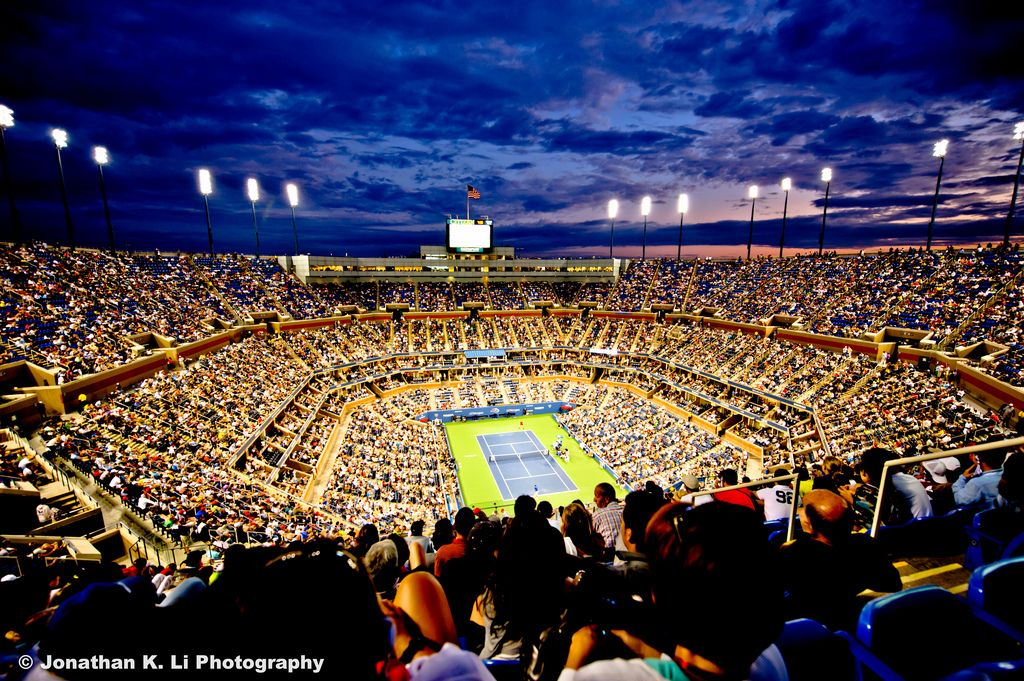 The Upper Level At Arthurashestadium Is Called The Promenade Level Tennis Travel Tennis Us Open