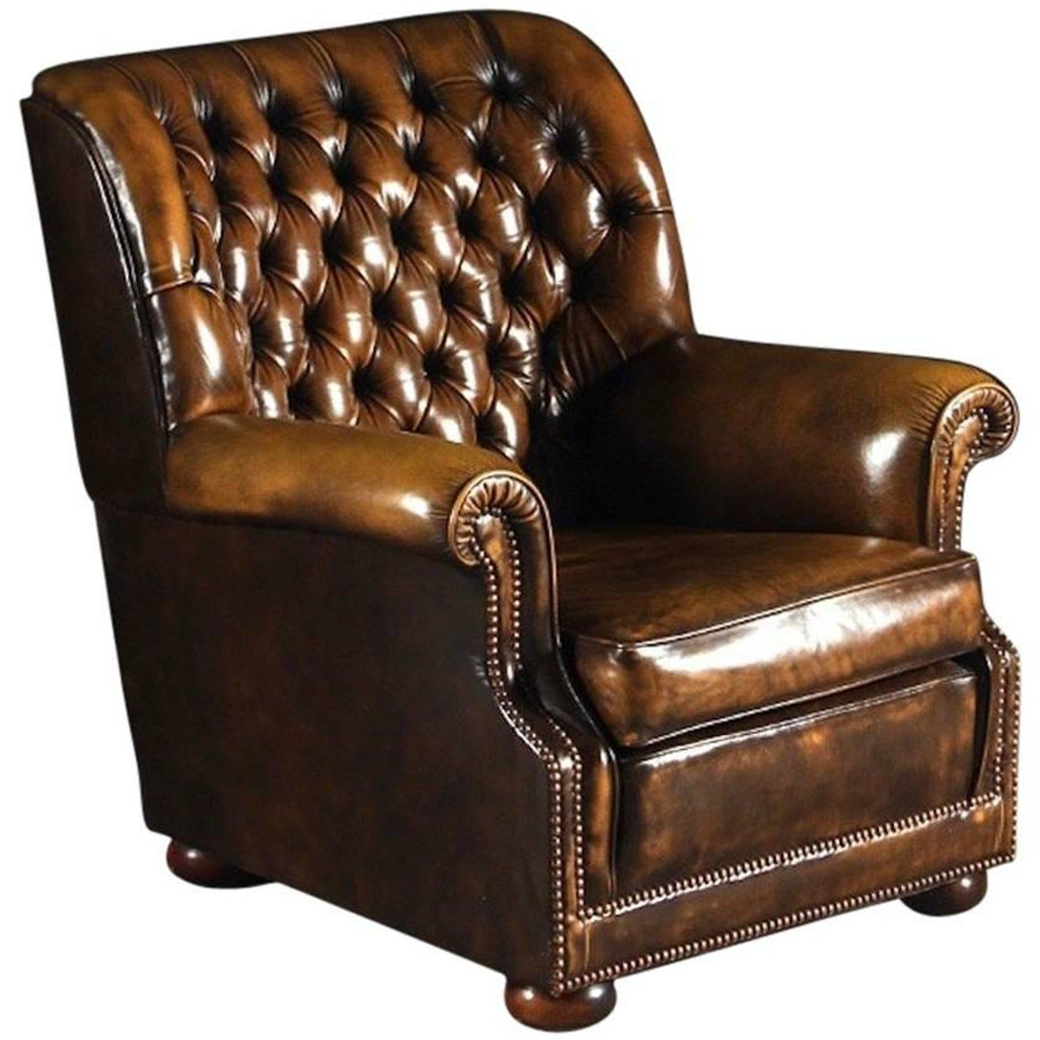 Brown Leather Pegasus Chesterfield Armchair By Art Forma Upholstery Ltd Brown Leather Chesterfield Brown Leather Armchair Armchair